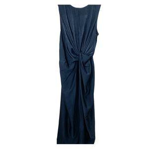 Everly Silky Black Maxi Dress